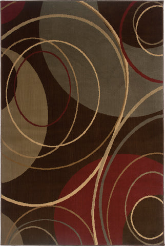 Oriental Weavers Amelia 662K6 Brown/Red Area Rug main image