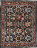 Amer Antiquity ANQ-10 Navy/Rust Area Rug main image