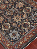 Amer Antiquity ANQ-10 Navy/Rust Area Rug Detail Shot