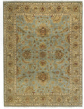 Amer Antiquity ANQ-5 Aqua/Tan Area Rug main image