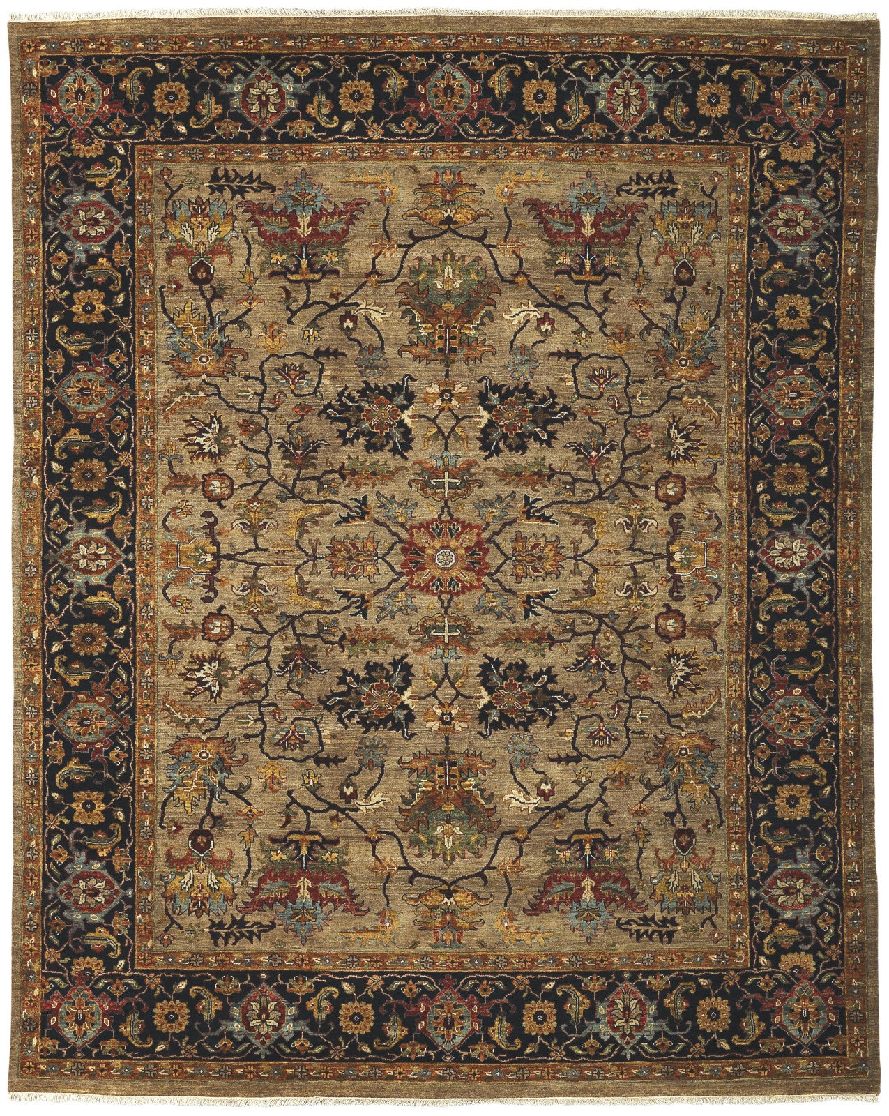 Amer Antiquity ANQ-8 Camel/Blue Area Rug main image