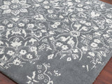 Amer Artist ART-11 Gray/White Area Rug Detail Shot