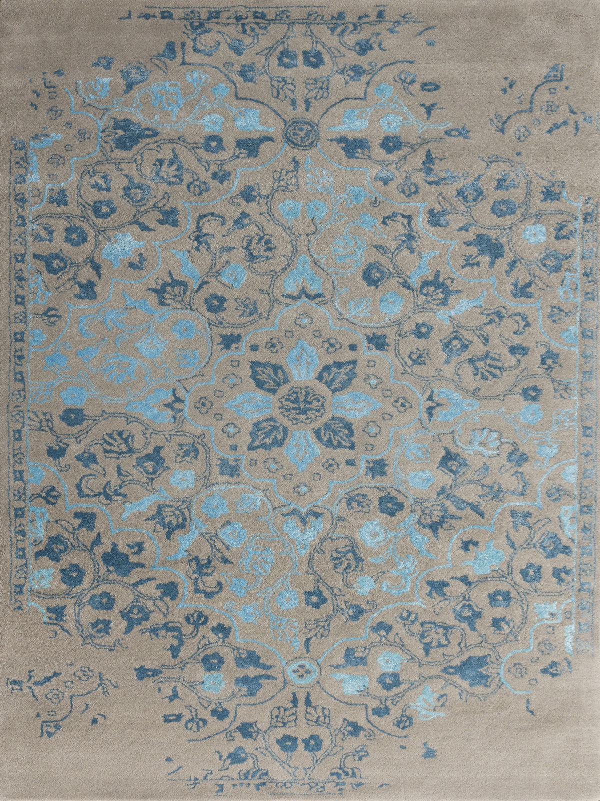 Amer Artist ART-2 Silver/Blue Area Rug main image