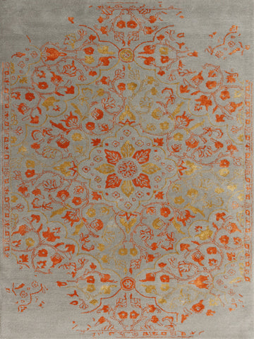 Amer Artist ART-3 Silver/Orange Area Rug main image