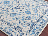 Amer Artist ART-5 White/Blue Area Rug Detail Shot