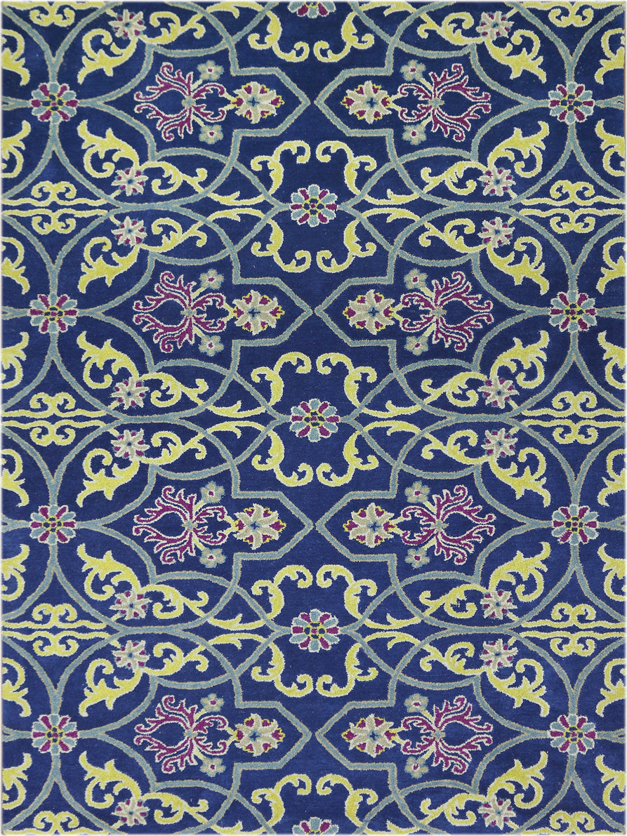 Amer Bloom BLO-28 Blue Area Rug main image