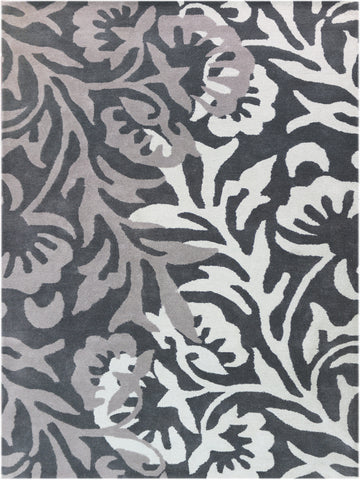 Amer Bombay BOM-4 Charcoal Area Rug main image