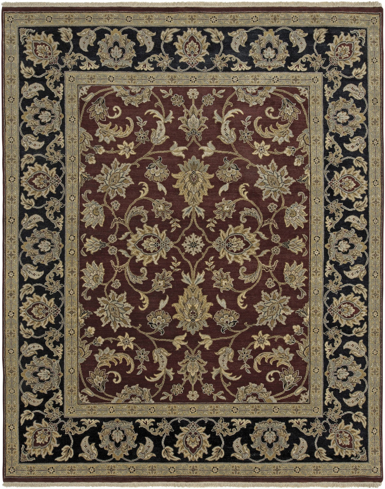Amer Luxor CD-38 Red/Ebony Area Rug main image