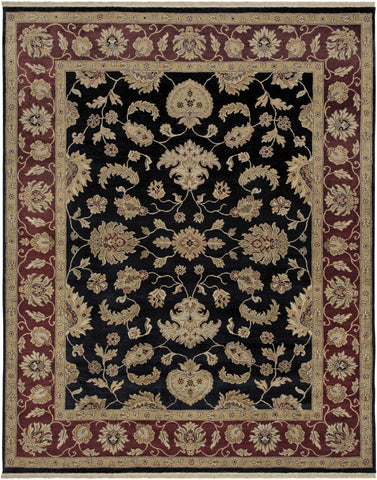 Amer Luxor CD-39 Ebony/Red Area Rug main image
