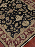 Amer Luxor CD-39 Ebony/Red Area Rug Detail Shot