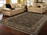 Amer Luxor CD-59 Chocolate/Cream Area Rug Room Scene
