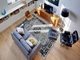 Amer Eternity ETR-5 Gray/Navy Area Rug Room Scene