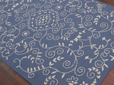 Amer Helena HEL-8 Denim Blue Area Rug Detail Shot