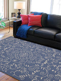 Amer Helena HEL-8 Denim Blue Area Rug Room Scene