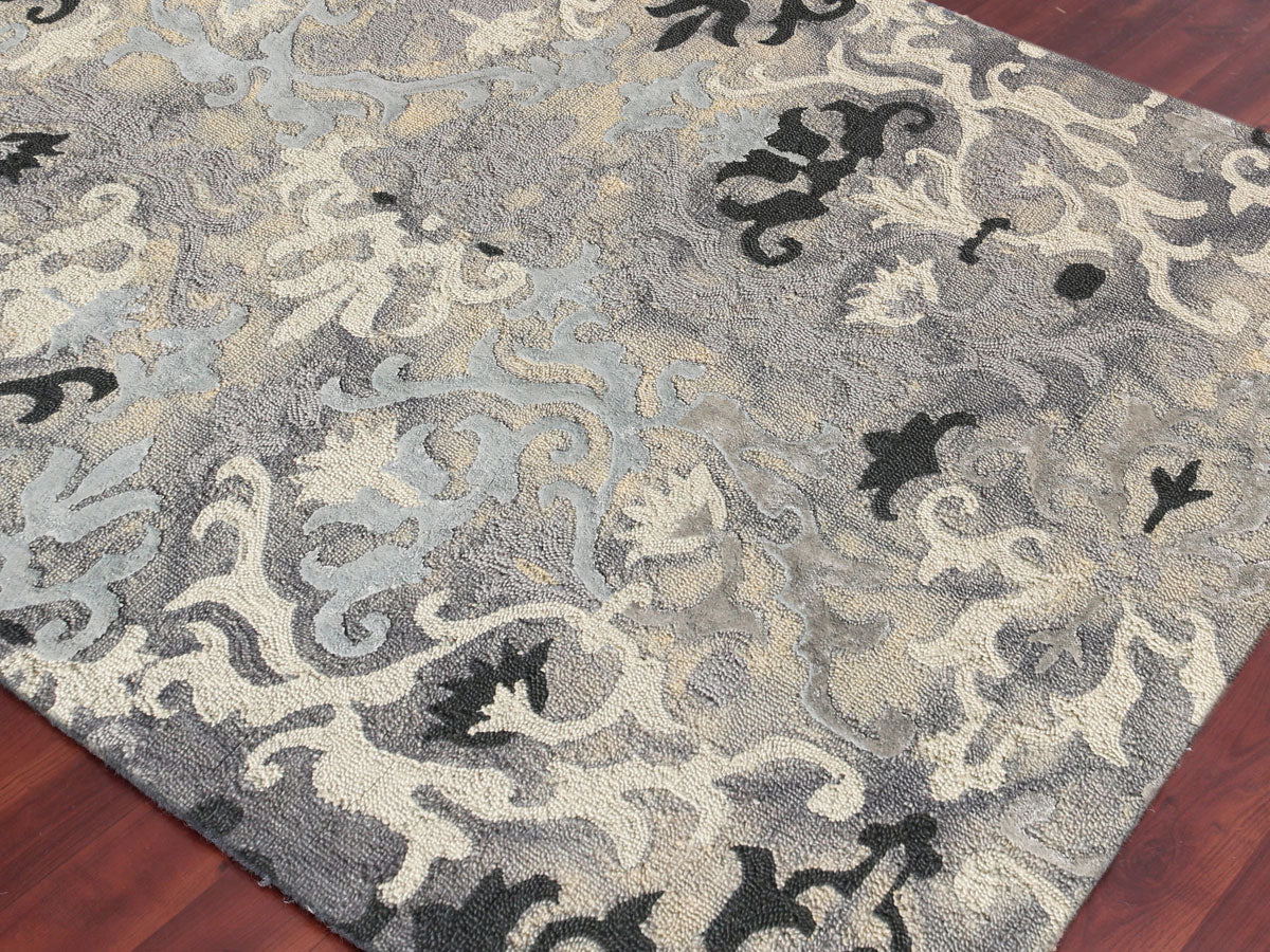 Amer Kanoka Kan 13 Silver Area Rug Incredible Rugs And Decor