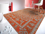 Amer Kimaya KIM-47 Orange Area Rug Room Scene