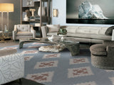 Amer Zara ZAR-19 Chevron Blue Area Rug Room Scene