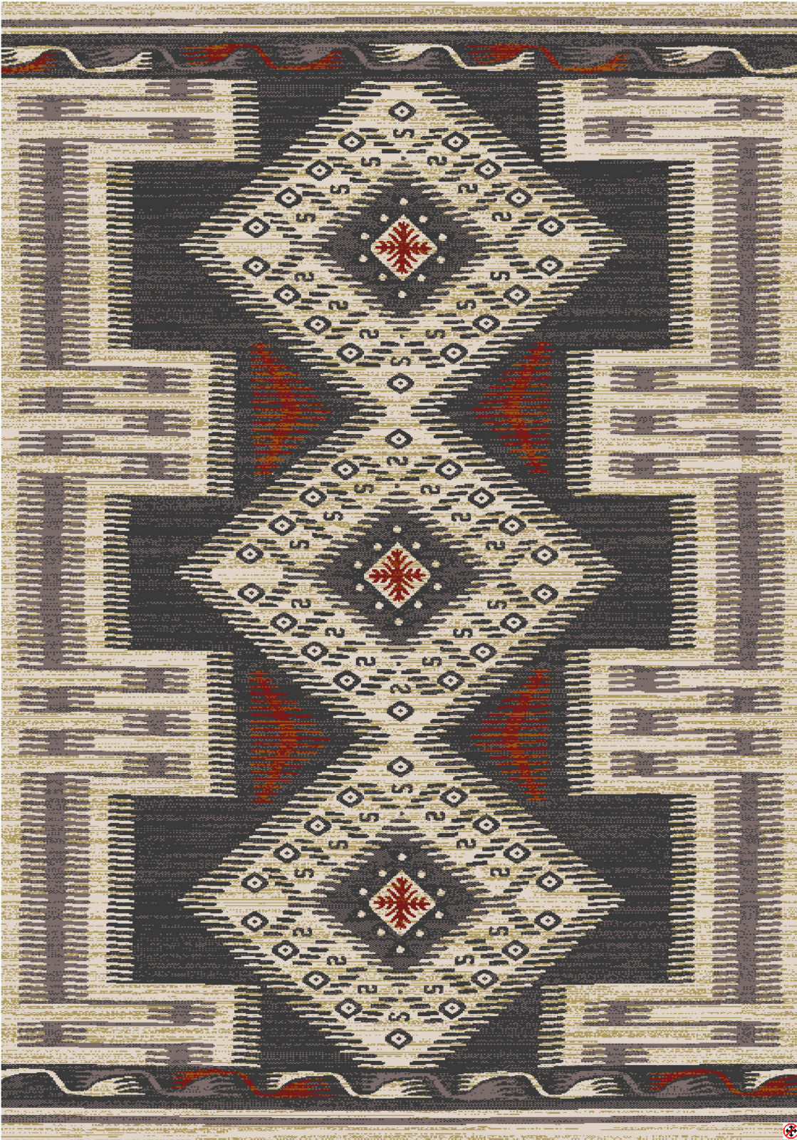 American Rug Craftsmen Destinations Hulett Charcoal Area main image