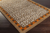 Surya Amour AMR-8001 Rust Hand Tufted Area Rug by Florence de Dampierre 5x8 Corner