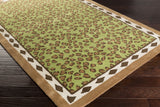 Surya Amour AMR-8002 Forest Hand Tufted Area Rug by Florence de Dampierre 5x8 Corner