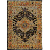 Oriental Weavers ANDORRA 7138B Gold/ Grey Area Rug Main