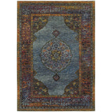 Oriental Weavers ANDORRA 7139A Blue/ Multi Area Rug Main