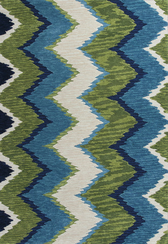 KAS Anise 2420 Blue/Green Chevron Area Rug main image