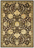 LR Resources Antigua 80990 Brown/Green Machine Loomed Area Rug 4' X 6'