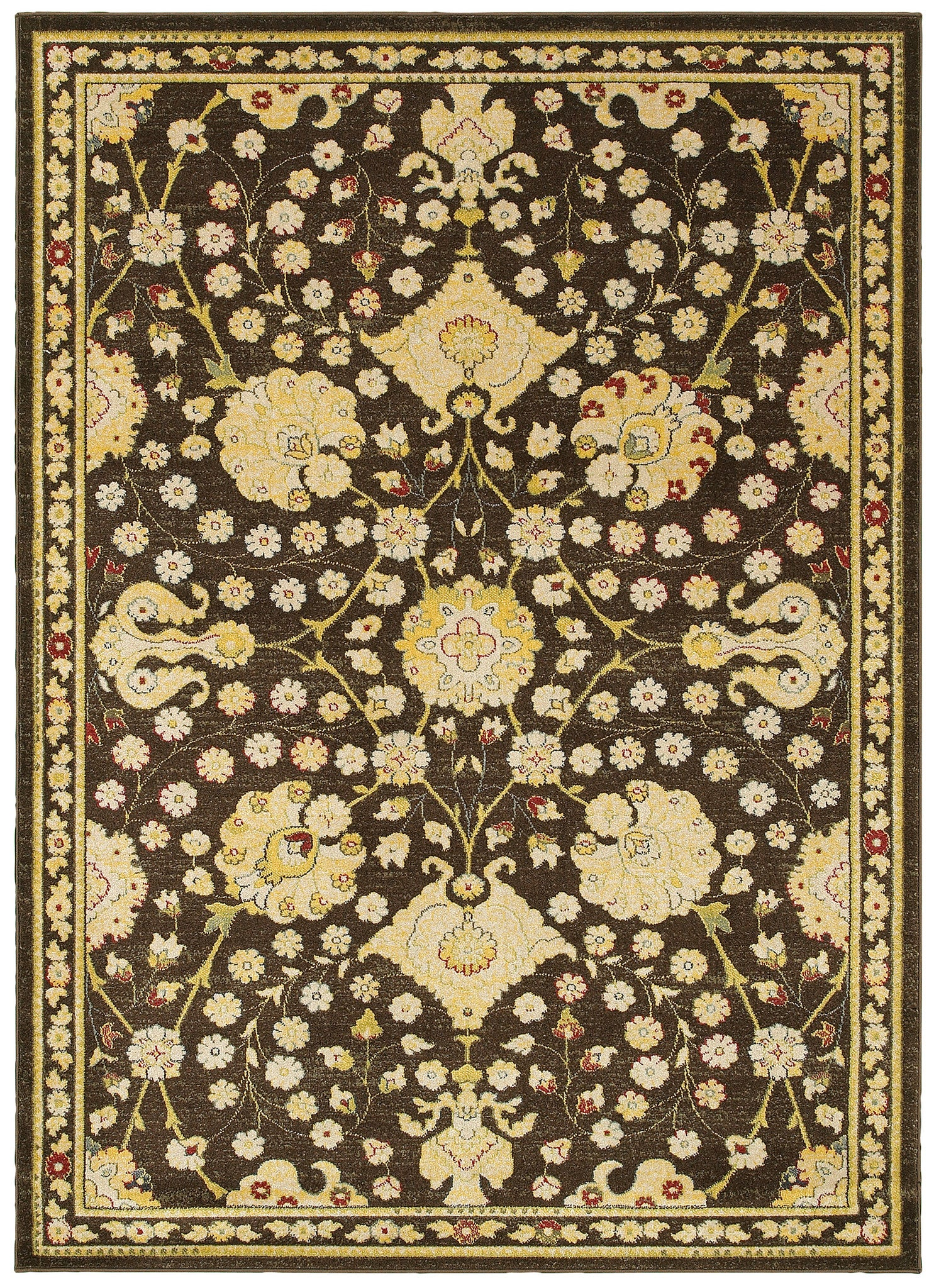 LR Resources Antigua 80990 Brown/Green Area Rug