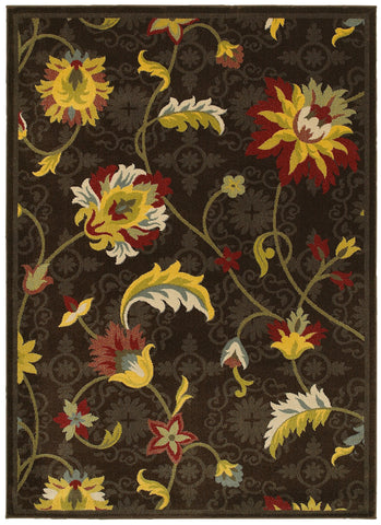 LR Resources Antigua 80991 Brown Area Rug