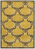 LR Resources Antigua 80995 Gold/Brown Machine Loomed Area Rug 4' X 6'