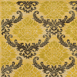 LR Resources Antigua 80995 Gold/Brown Machine Loomed Area Rug 7' 9'' X 7' 9'' octagon