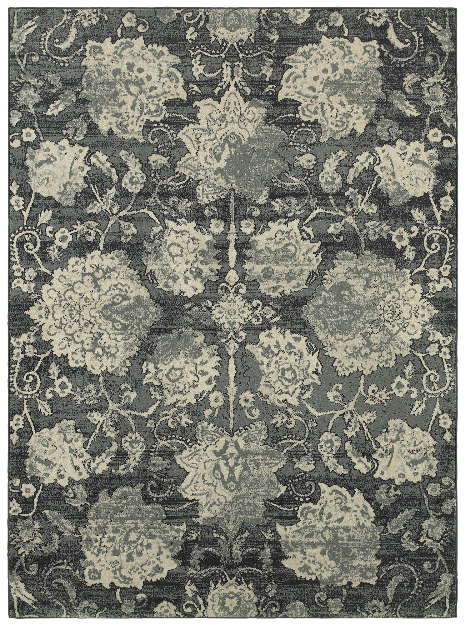 LR Resources Antigua 80998 Blue/Dk Gray Area Rug