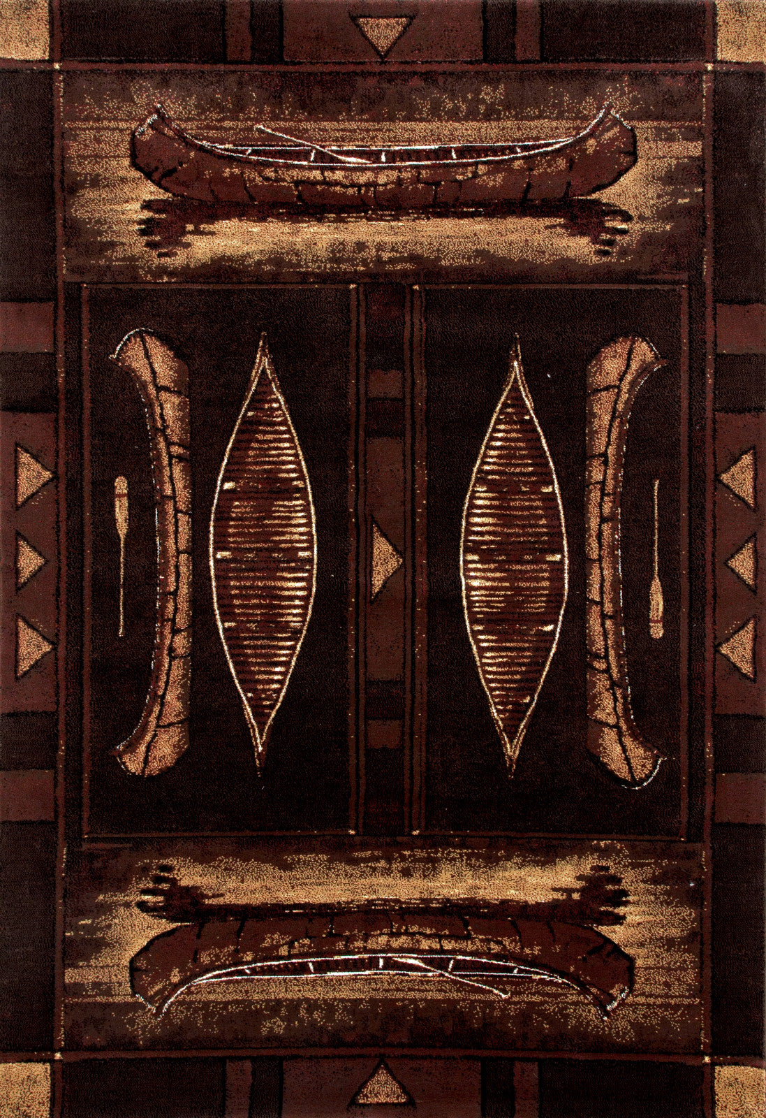 Art Carpet Cabin AR-00-0260 Brown Area Rug main image