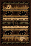 Art Carpet Cabin AR-00-0262 Brown Area Rug main image