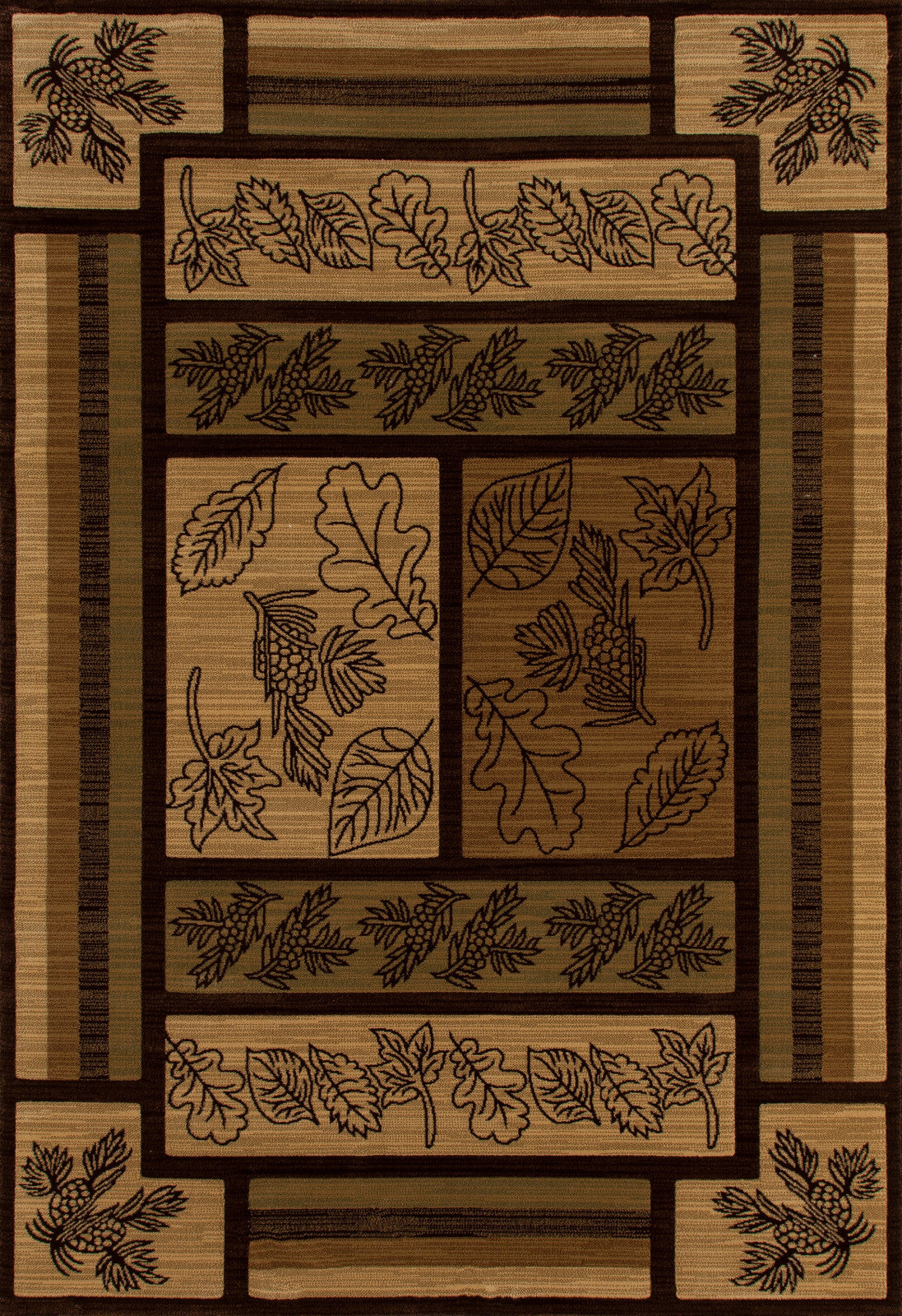 Art Carpet Cabin AR-00-0265 Brown Area Rug main image