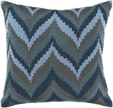 Surya Ikat Chevron Beat AR-054 Pillow 22 X 22 X 5 Down filled