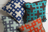 Surya Layered Blocks Intersecting Squares AR-081 Pillow