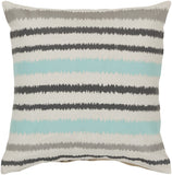 Surya Ikat Stripe Vertical Stripes AR-100 Pillow 22 X 22 X 5 Down filled