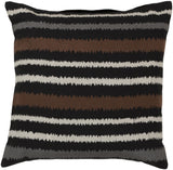 Surya Ikat Stripe Vertical Stripes AR-101 Pillow 22 X 22 X 5 Poly filled