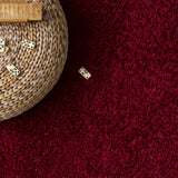 Surya Arlie ARE-9001 Dark Red Machine Woven Area Rug