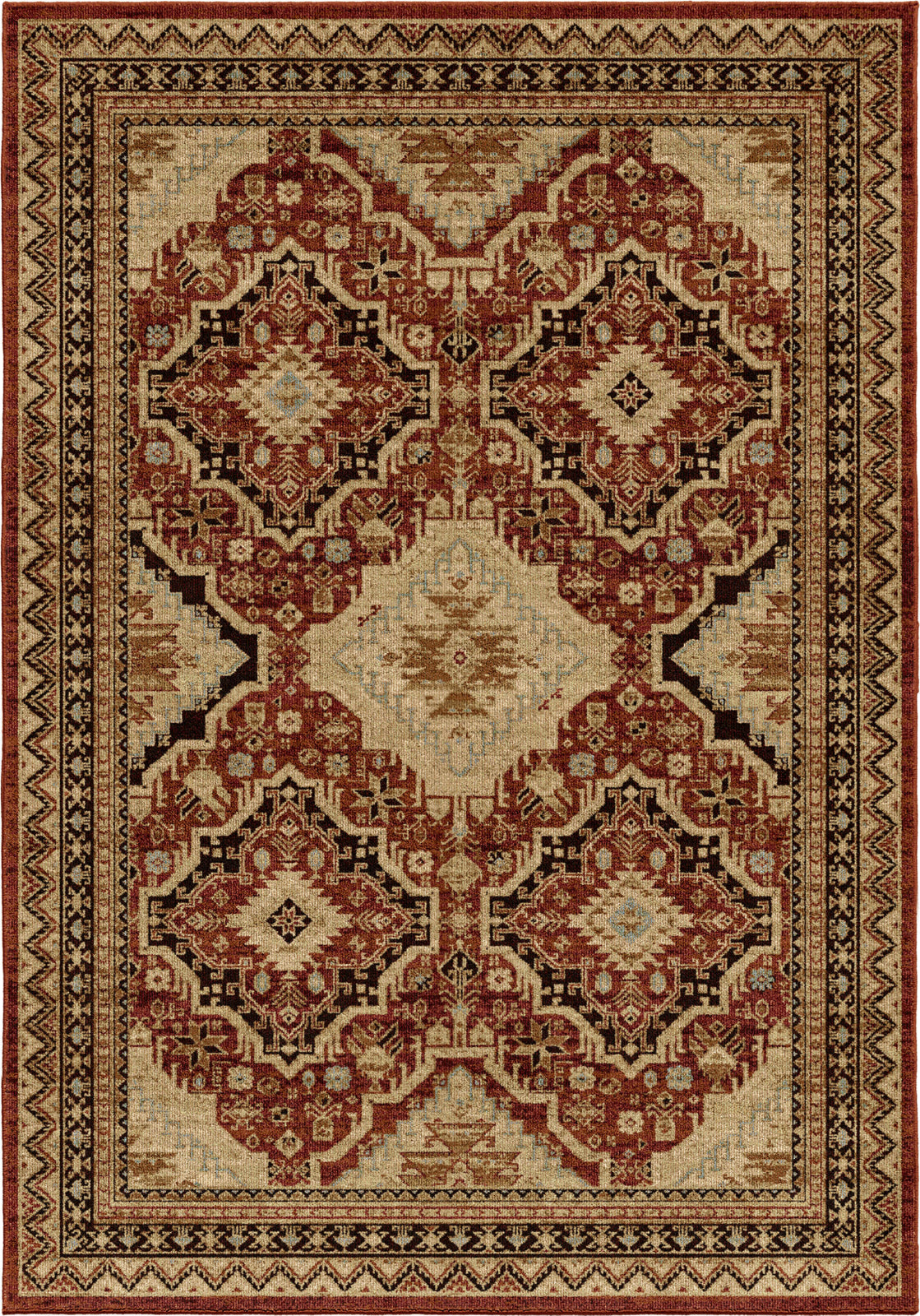 Orian Rugs Aria Izmir Rouge Area Rug by Palmetto Living main image