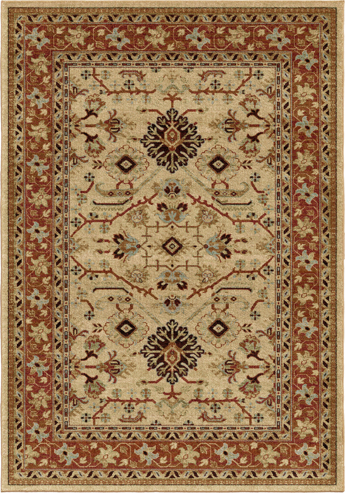 Orian Rugs Aria Kashmir Bisque Area Rug by Palmetto Living main image