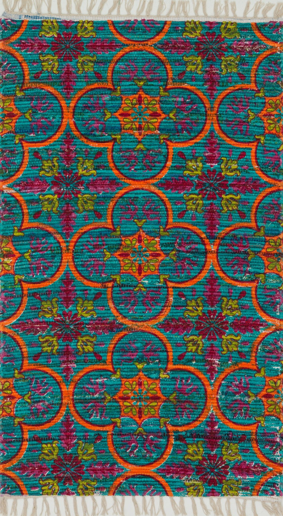 Loloi Aria HAR13 Blue / Orange Area Rug main image