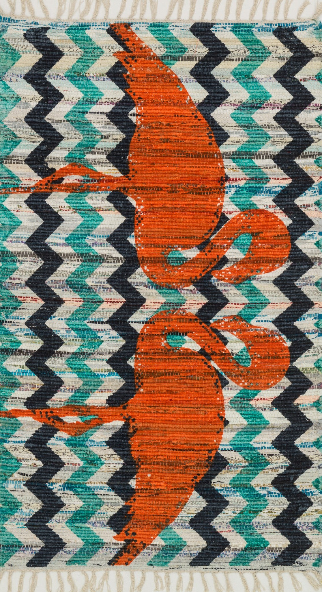 Loloi Aria HAR20 Aqua / Orange Area Rug main image