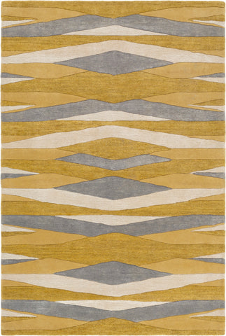 Surya Artist Studio ART-252 Wheat Mustard Medium Gray Cream Area Rug main image
