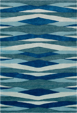 Surya Artist Studio ART-253 Bright Blue Teal Aqua Sea Foam Area Rug main image