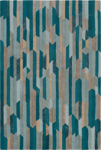 Surya Artist Studio ART-254 Emerald Sage Mint Tan Metallic-Silver Taupe Area Rug main image