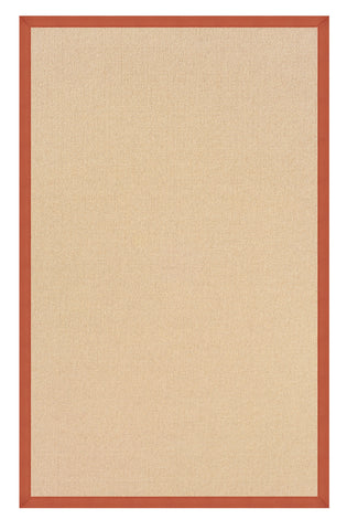 Linon Athena RUG-AT0110 Natural/Burnt Orange Area Rug main image