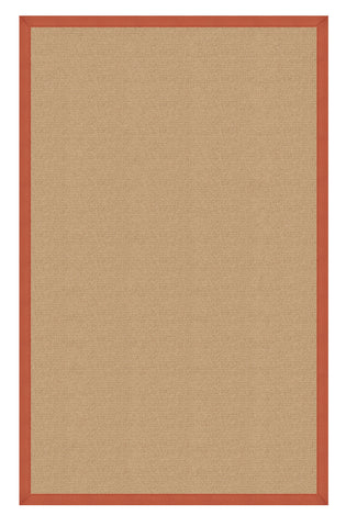 Linon Athena RUG-AT0210 Sisal/Burnt Orange Area Rug main image